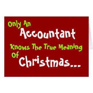 Tarjeta de Navidad chistosa del contable