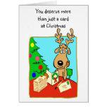 Tarjeta de Navidad chistosa del reno
