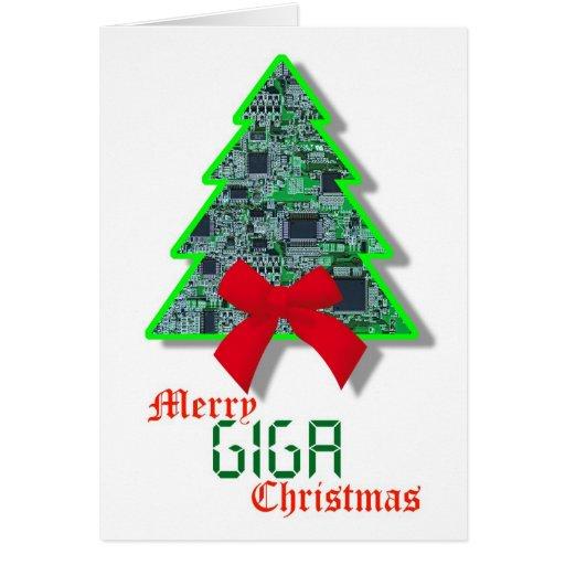 Tarjeta de Navidad cibernética