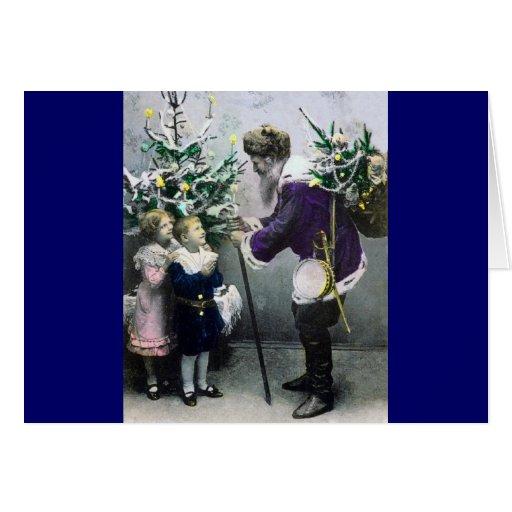 tarjeta de Navidad coloreada