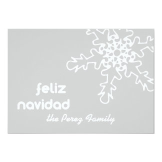 Tarjeta de Navidad con Copo de Nieve Card