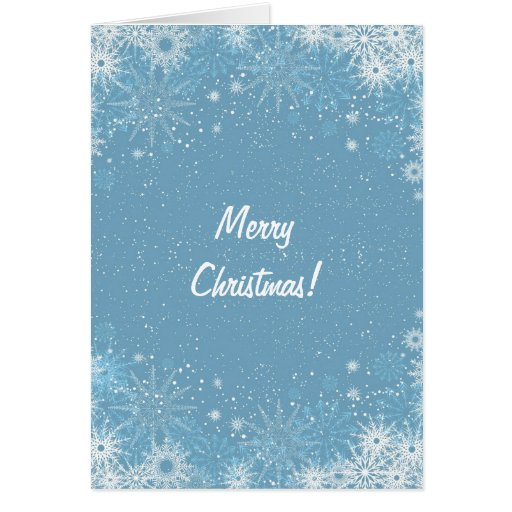 Tarjeta de Navidad con diseño del copo de nieve