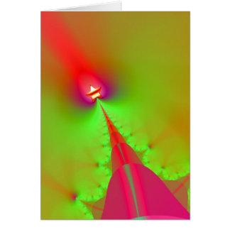 Tarjeta de Navidad con diseño del fractal