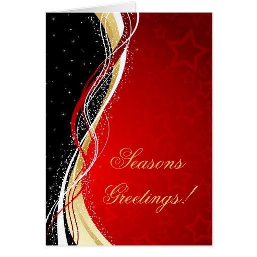 Tarjeta de Navidad con diseño elegante