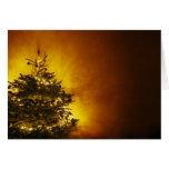 tarjeta de Navidad con el árbol de pino adornado