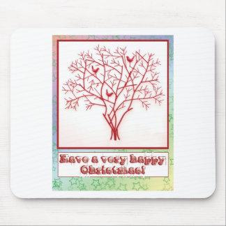 Tarjeta de Navidad con el fondo de la estrella del Alfombrillas De Raton