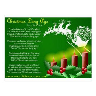 Tarjeta de Navidad con el poema corto del navidad Postal
