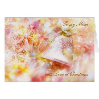Tarjeta de Navidad con la campana para la mamá