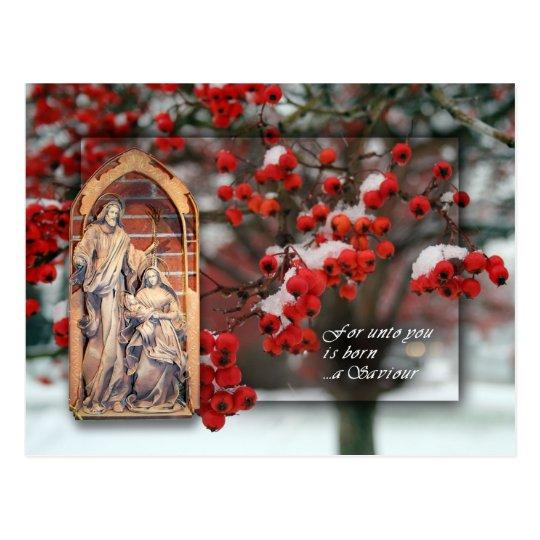 Tarjeta de Navidad con las bayas Postales