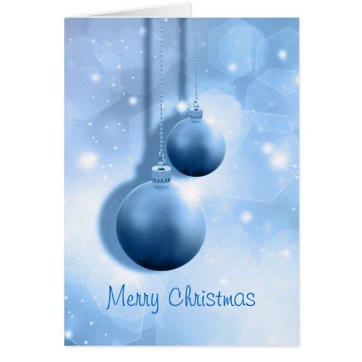 Tarjeta de Navidad con las chucherías colgantes
