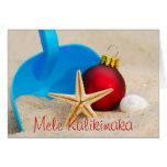 Tarjeta de Navidad con playas de Mele Kalikimaka