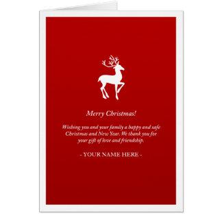 Tarjeta de Navidad contemporánea roja