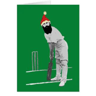 Tarjeta de Navidad Cricketing