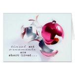 tarjeta de Navidad cristiana de la escritura, orna