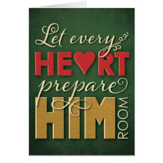 Tarjeta de Navidad cristiana - deje cada corazón