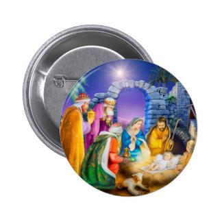 Tarjeta de Navidad cristiana Pin Redondo De 2 Pulgadas