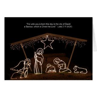 Tarjeta de Navidad cristiana religiosa de la escen