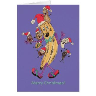 """Tarjeta de Navidad """"crujiente"""" púrpura"""
