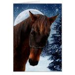 Tarjeta de Navidad cuarta del caballo