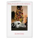 Tarjeta de Navidad dálmata del perro