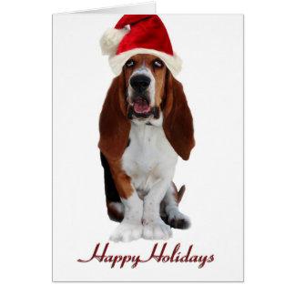 Tarjeta de Navidad de Basset Hound