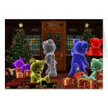Tarjeta de Navidad de Bearz del peluche