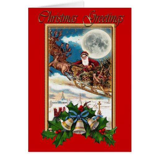Tarjeta de Navidad de Belces de Papá Noel, del tri