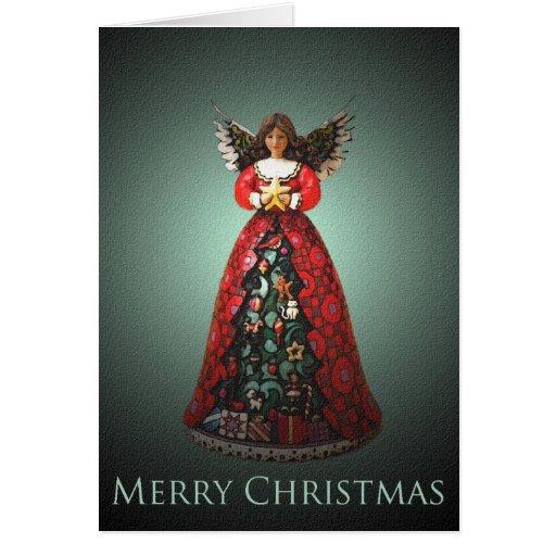 Tarjeta de Navidad de Bell del ángel