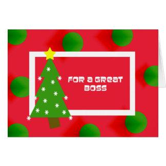 Tarjeta de Navidad de Boss