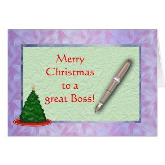 Tarjeta de Navidad de Boss de las Felices Navidad