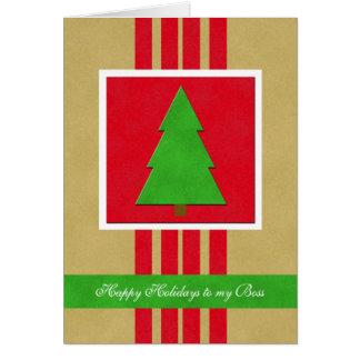 Tarjeta de Navidad de Boss -- Un terciopelo que mi