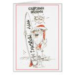 Tarjeta de Navidad de California Santa