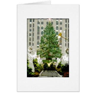 Tarjeta de Navidad de centro del árbol de navidad