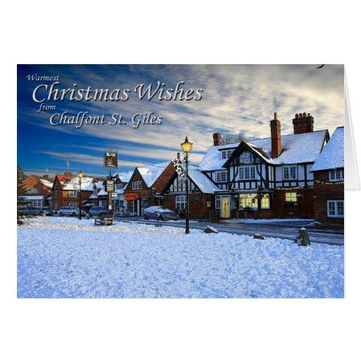 Tarjeta de Navidad de Chalfont St Giles