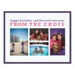 Tarjeta de Navidad de Choi Comunicados Personalizados