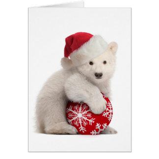 Tarjeta de Navidad de Cub del oso polar