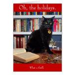Tarjeta de Navidad de Edgar Allan Kittycat