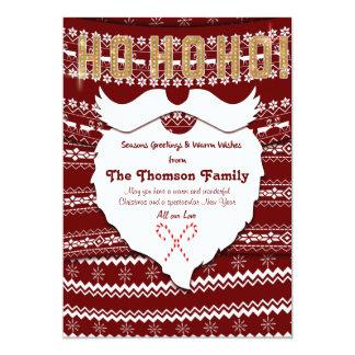 Tarjeta de Navidad de encargo de la feliz barba de Comunicado Personal