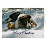 Tarjeta de Navidad de encargo de la nieve del perr