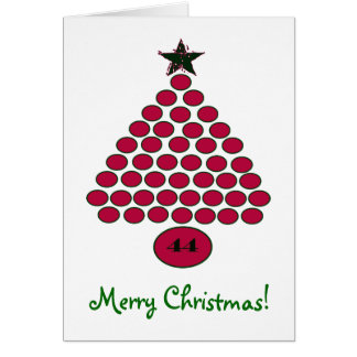 Tarjeta de Navidad de encargo de Obama 44