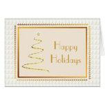 Tarjeta de Navidad de encargo del árbol de oro