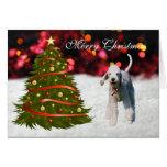 Tarjeta de Navidad de encargo del árbol del perro
