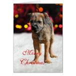 Tarjeta de Navidad de encargo del perro de perrito