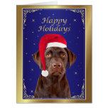 Tarjeta de Navidad de encargo del perro del