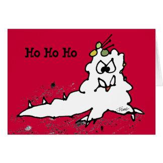 Tarjeta de Navidad de Escargot de la barra del dib