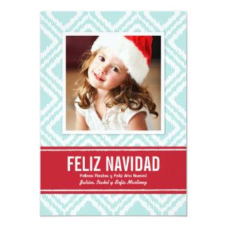 """Tarjeta de Navidad de Fotos el   Modelo de Ikat Invitación 5"""" X 7"""""""