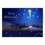 Tarjeta de Navidad de Frohe Weihnachten.German