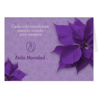 Tarjeta de Navidad de Fundación de TrisomÍa 18 Card