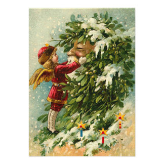 Tarjeta de Navidad de hadas de Santa del alemán Invitacion Personalizada