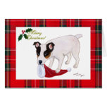 Tarjeta de Navidad de Jack Russell Terrier